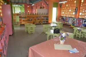 Inside the new nursery school.