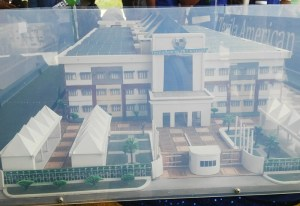 A replica of what the medical university will look like.
