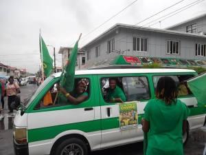APNU+AFC supporters celebrate the victory.