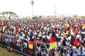 The crowd at the PPPC rally at Bath, West Coast Berbice.