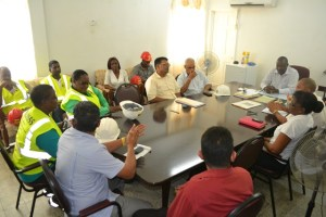 Broomes meeting with the management of the Enmore Sugar Estate