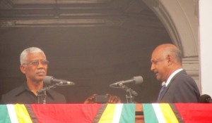 President David Granger taking the oath of office. [iNews' Photo]