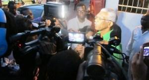 Presidential Candidate of APNU+AFC, David Granger addresses the media.