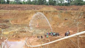 The mining pit where the accident occurred. [Photo compliments of the GGDMA]