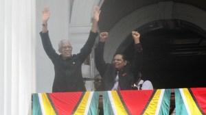 President David Granger and Prime Minister-elect Moses Nagamootoo. [iNews' Photo]