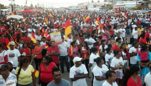 A section of the crowd at the rally in Lusignan. [iNews' Photo]