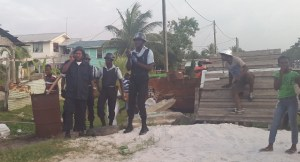 Police on the scene. [iNews' Photo]