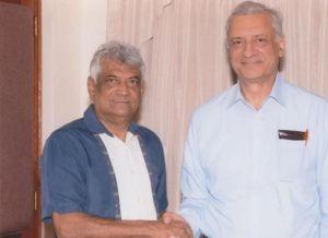 GECOM's Dr. Steve Surujbally and Secretary General of the Commonwealth Secretariat, Kamalesh Sharma