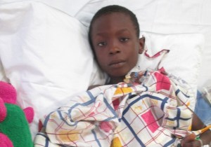 Young heart patient currently recovering from Monday's surgery