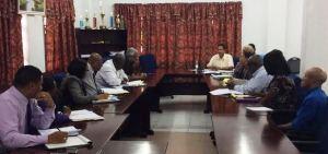 Minister Bulkan meets with GECOM officials.