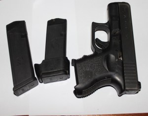 The firearm recovered by the police at the house in Craig