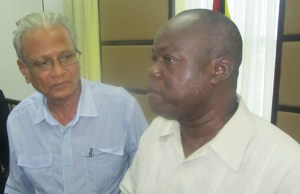 Education Minister Dr Rupert Roopnaraine and Presidential Advisor on Youth, Aubrey Norton. [iNews' Photo]