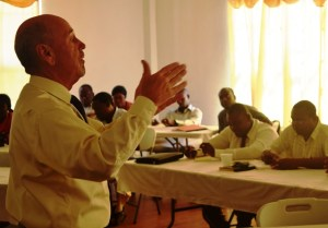Department of Justice Instructor Presents Information to GPF Participants