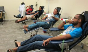 Donors Giving Blood