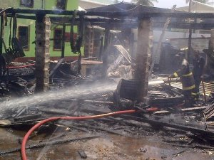 The scene of the fire. [Nakasia Logan Photo]