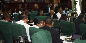 APNU+AFC MP for Region 10, Jermaine Figueira makes his presentation.