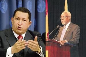 Hugo Chavez and Former Jamaica PM PJ Patterson