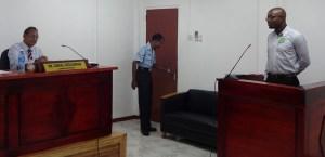 Kemo Benjamin under cross examination at the COI.