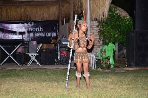 """An Indigenous girl performing her piece entitled """"A proud Makushi girl"""""""
