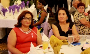 Director of the Guyana Responsible Parenthood Association (GRPA) Patricia Sheeratan-Bisnauth and First Lady, Sandra Granger