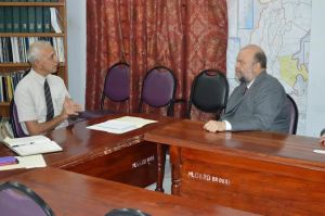 Ambassador Holloway meeting Minister of Communities Ronald Bulkan