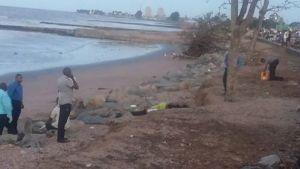 The scene where the bodies were found. [Iva Wharton Photo]