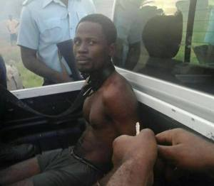 One of the suspected bandits who was caught.