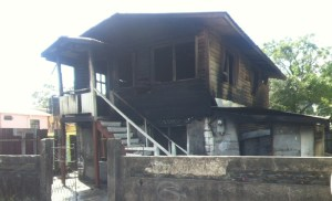 The house following the fire. [iNews' Photo]