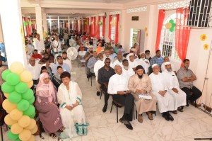 The gathering at the launch of he new Guyana Islamic Trust (GIT) Secretariat and the ISA Elementary School building.