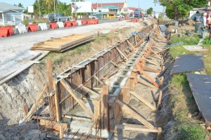 Road widening ongoing at Anna Catherina, West Coast Demerara