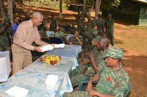 President David Granger serves Christmas Lunch at Location Eteringbang