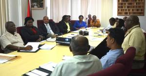 Minister of Governance, Raphael Trotman and officials from the GGMC and GGDMA.