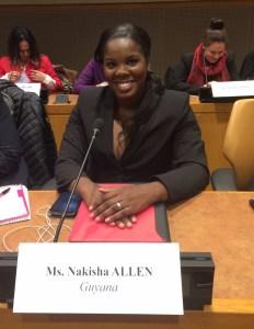 Nakisha Allen at the UN in NY