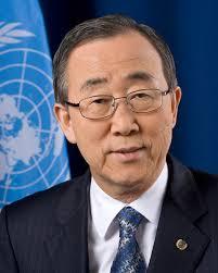 UN Secretary General, Ban Ki-Moon