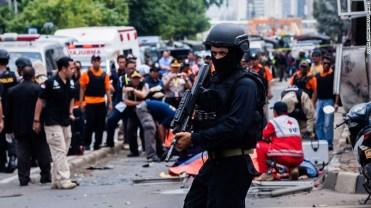 Deadly explosions, gunfight in Jakarta (CNN Photo)