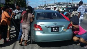 The accident scene at Agricola, yesterday