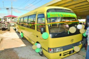 The two buses, David G 1 and 2 that were handed over to the people of Region Five