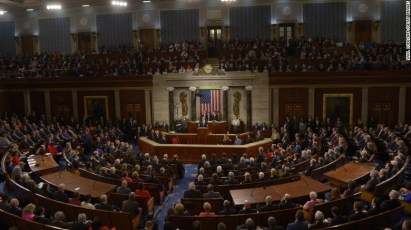U.S. President Barack Obama speaks to the joint session of Congress (CNN photo)