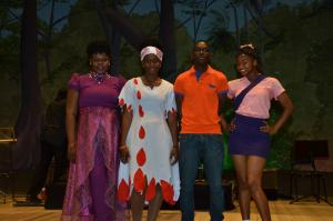 L-R: Winner; T'Shanna Cort, first runner up; Niossi Hilsopp, second runner up; William Plowell and best new comer; Dominique Haywood.