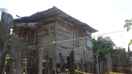The house where Rameshwar's bound body was found