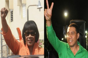 The PNP is led by 70-year-old Portia Simpson Miller and 43-year-old Andrew Holness is the leader of the JLP.