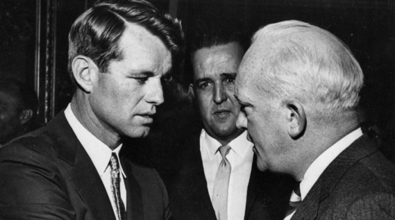 Robert F. Kennedy and Donovan. © National Security Archive