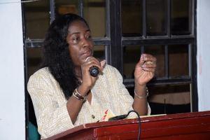 Housing Minister, Valerie Sharpe-Patterson