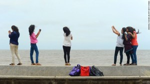Police say Mumbai's oceanfront is a high-risk area for selfie-related accidents.