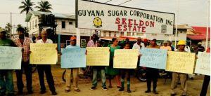 Skeldon estate workers joined in solidarity with Wales workers