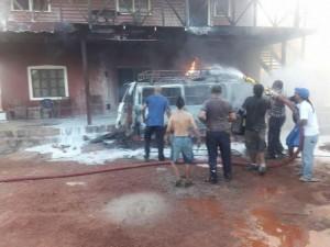 bus explodes