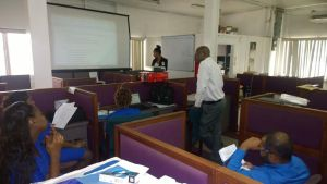 Richard Langford and participant's during yesterday's training session