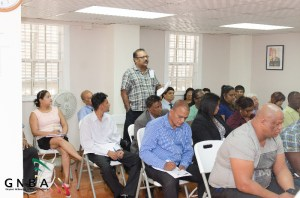 Managing Director of NTN Ch 69, Anand Persaud, makes a point during the interactive session