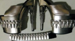 The gun-shaped heels seized by TSA officials