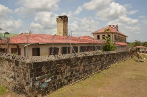 One of the inmate blocks at the 173 year old Mazaruni Penal Settlement.